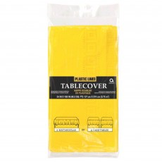 Yellow Sunshine Plastic Lined Table Cover