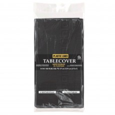 Black Jet Plastic Lined Table Cover