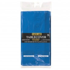 Bright Royal Blue Plastic Lined Table Cover 1.37m x 2.74m