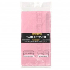 New Pink Plastic Lined Table Cover 1.37m x 2.74m