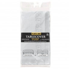 Silver Plastic Lined Table Cover 1.37m x 2.74m