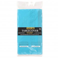 Caribbean Blue Plastic lined Table Cover 1.37m x 2.74m