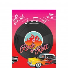 Rock n Roll Classic 50's Plastic Table Cover