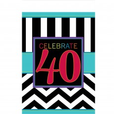 40th Birthday Chevron Celebration Plastic Table Cover