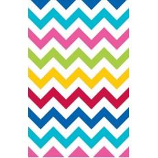 Chevron Design Bright Multi Coloured  Paper Table Cover