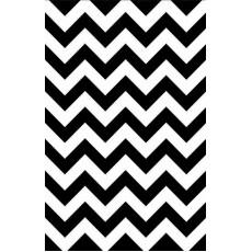 Chevron Design Black & White  Paper Table Cover