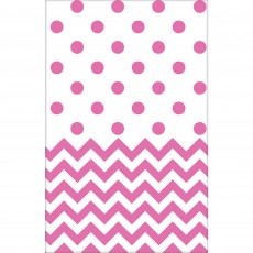 Chevron Design New Pink  Plastic Table Cover