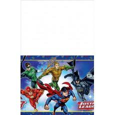 Justice League Plastic Table Cover 1.37m x 2.43m