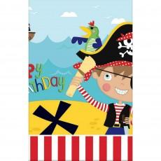 Pirate's Treasure Little Pirate Plastic Table Cover 1.37m x 2.43m