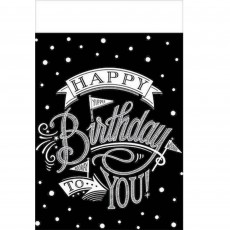Hooray Happy Birthday to You! Plastic Table Cover 1.37m x 2.59m