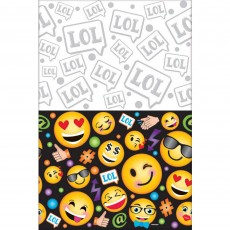 Emoji LOL Smiley Faces Plastic Table Cover