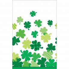 St Patrick's day Blooming Shamrocks Plastic Table Cover 137cm x 259cm