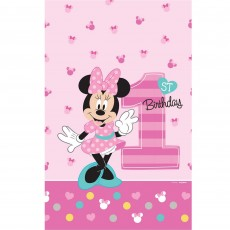 Minnie Mouse 1st Birthday Fun To Be One Plastic Table Cover 1.37m x 2.43m