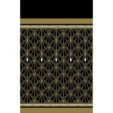 Glitz & Glam Black & Gold  Plastic Table Cover