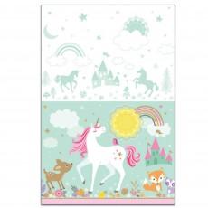 Magical Unicorn Plastic Table Cover 1.37m x 2.43m