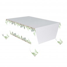 Bridal Shower Love and Leaves Paper Table Cover 1.37m x 2.59m