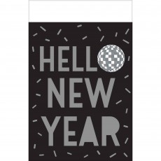 New Year Disco Ball Drop Plastic Table Cover
