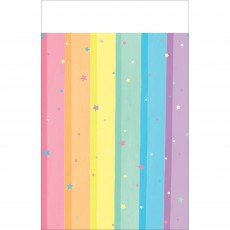Magical Rainbow Plastic Table Cover