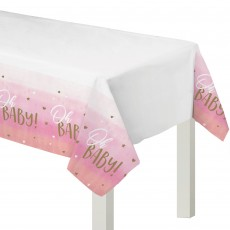 Oh Baby Girl Plastic Table Cover