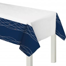 Bridal Shower Navy Bride Plastic Table Cover 137cm x 259cm