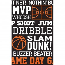 Basketball Fan Party Supplies - Plastic Table Cover Nothin' But Net