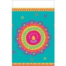 Diwali Plastic Table Cover 137cm x 259cm