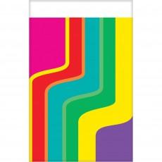 Disco & 70's Good Vibes Plastic Table Cover 137cm x 243cm