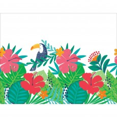 Hawaiian Luau Tropical Jungle Plastic Table Cover