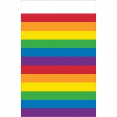 Rainbow Plastic Table Cover 137cm x 243cm
