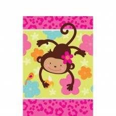 Monkey Love Paper Table Cover