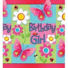 Garden Girl Paper Table Cover