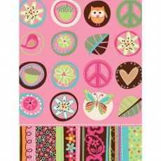Hippie Chick Paper Table Cover