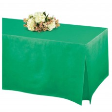 Festive Green Flannel-Backed Tablefitters Table Cover 1.8m x 78cm x 68cm