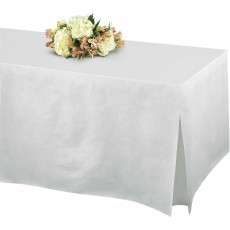 White Flannel-Backed Tablefitter Table Cover