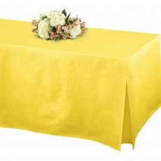 Yellow Sunshine Flannel-Backed Tablefitter Table Cover