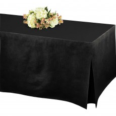 Black Jet Flannel-Backed Tablefitter Table Cover