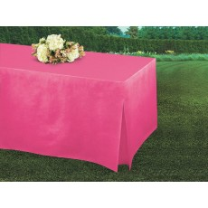 Pink Bright Tablefitter Flannel-Backed Table Cover