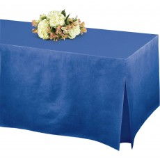Blue Bright Royal Flannel-Backed Tablefitter Table Cover