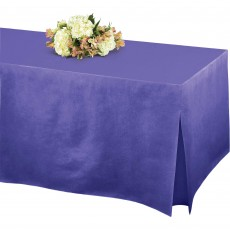 Purple New Flannel-Backed Tablefitters Table Cover