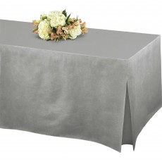 Silver Flannel-Backed Tablefitter Table Cover 1.8m x 78cm x 68cm