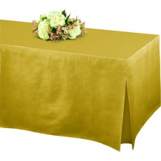Gold Tablefitters Flannel-Backed Table Cover