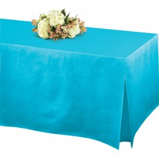 Blue Caribbean Flannel-Backed Tablefitter Table Cover