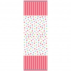 Sweet Cupcake 1st Birthday Girl Paper Table Cover