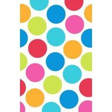 Cabana Dots Plastic Table Cover 1.37m x 2.59m