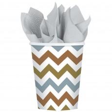 Chevron Design Mixed Metallic  Paper Cups