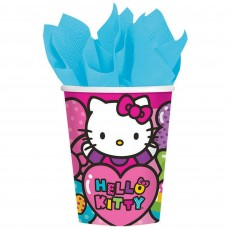 Hello Kitty Rainbow Paper Cups 266ml Pack of 8