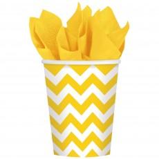 Chevron Design Sunshine Yellow  Paper Cups