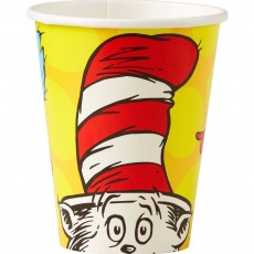 Dr Seuss Paper Cups 266ml Pack of 8