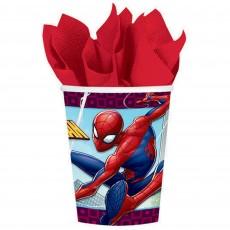 Spider-Man Webbed Wonder Paper Cups 266ml Pack of 8