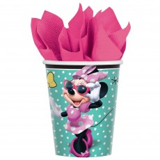 Minnie Mouse Happy Helpers Paper Cups 266ml Pack of 8